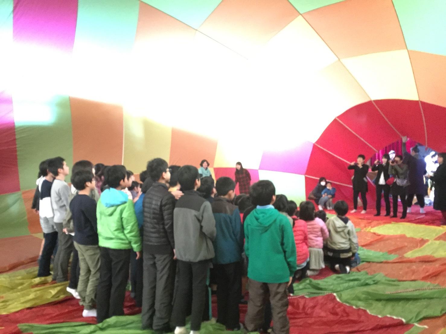 熱気球ワークショップのイメージ